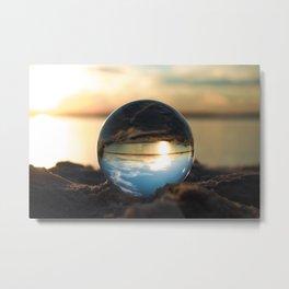 Lens Ball @ the beach, NC Metal Print