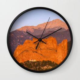 Beautiful Kissing Camels Colorado Spring Wall Clock