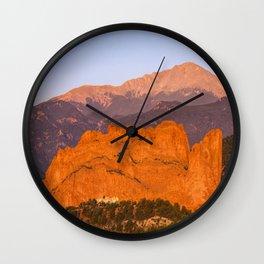 Beautiful Kissing Camels Colorado Spring Wall Clock