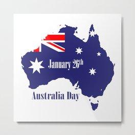 Happy Australia Day Metal Print