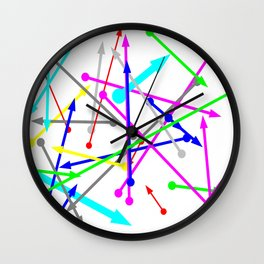 wohin soll es gehen - the right direction   (A7 B0025) Wall Clock