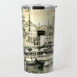 THE HARBOUR IN GREYS Travel Mug