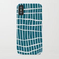 Net White on Blue iPhone X Slim Case