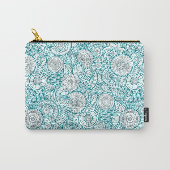 BOHO TURQUOISE PATTERN Carry-All Pouch