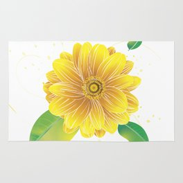 Helianthus - The Color of Vitality, Intelligence and Happiness Rug
