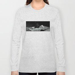 Snowdon Mountain Drawing Long Sleeve T-shirt