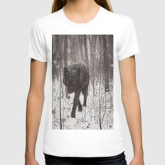 Snow Wolf SMALL Womens Fitted Tee White