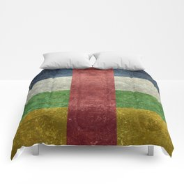 National flag of the Central African Republic or CRA - Vintage version to scale Comforters