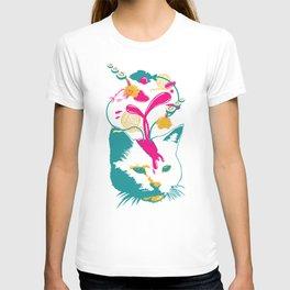Liquid thoughts:Cat T-shirt