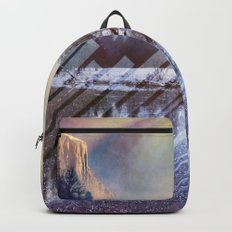 Winter Sun Rays Abstract Nature Backpack