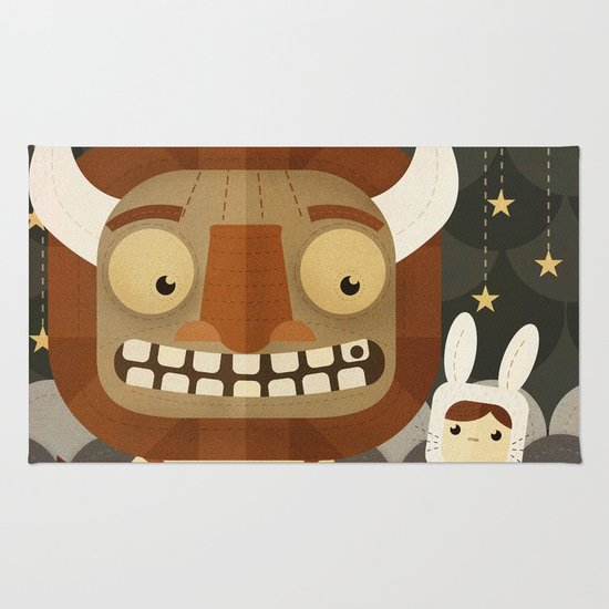 Where the wild things are fan art Rug