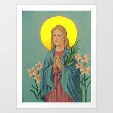 saint maria Art Print