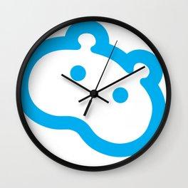 Blue hippo Wall Clock