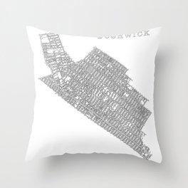 Bushwick, NY Throw Pillow