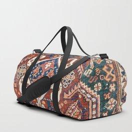 Qashqai Khorjin  Antique Fars Persian Bag Face Print Duffle Bag