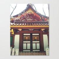 kobe Canvas Prints featuring Ikuta Shrine in Kobe by Michelle Brand
