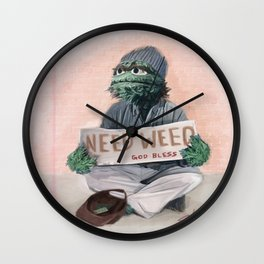 The Grouch Needs Weed Wall Clock
