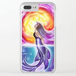 Galactic Mermaid Clear iPhone Case
