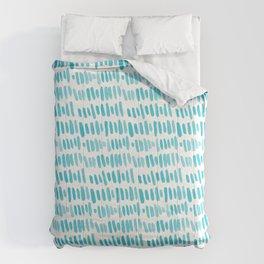 Watercolor rain lines Comforters