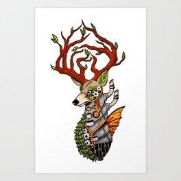 Steampunk Deer Art Print