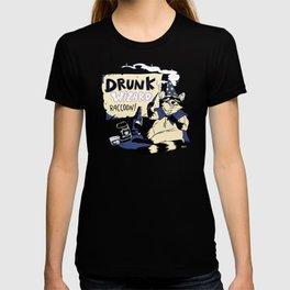 Drunk Wizard Raccoon T-shirt