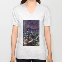 Purple Rio Unisex V-Neck
