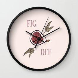 Fig Off Wall Clock