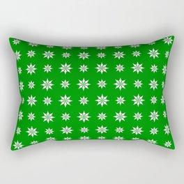 geometric flower 52 green Rectangular Pillow