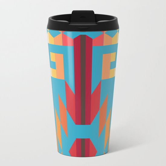 American Native Pattern No. 49 Metal Travel Mug
