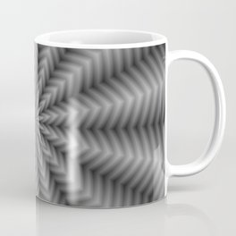 Floral Rays in Black and White Coffee Mug