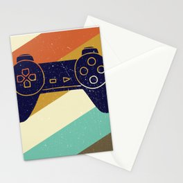 Retro Vintage Design With Controller Video Game Lover's Gift Stationery Cards