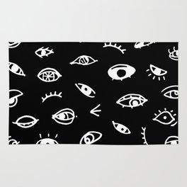 Bad Eyes (Black) Rug