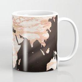 Earth Map Rose Gold Glitter Marble Space Coffee Mug
