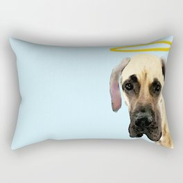 Great Dane Art - I Didn't Do It Rectangular Pillow