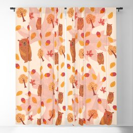 welcome automn Blackout Curtain