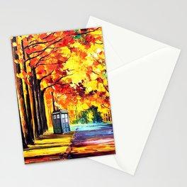 Tardis Stay Alone Stationery Cards