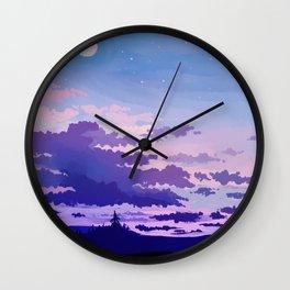 Moon Rising Wall Clock