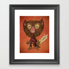 Adventure Cat Framed Art Print
