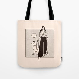 A Woman & Her Dog Tote Bag