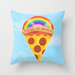 Pizza Is Magic Throw Pillow