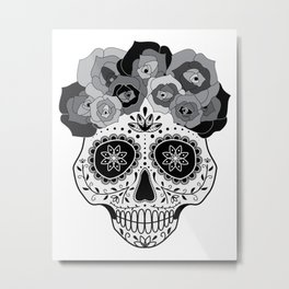 La Catrina Negra Metal Print