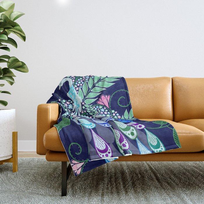 Moonlark Garden Throw Blanket