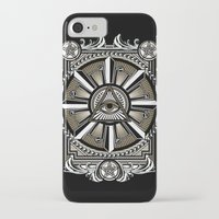 all seeing eye iPhone & iPod Cases featuring All Seeing Eye by Pancho the Macho