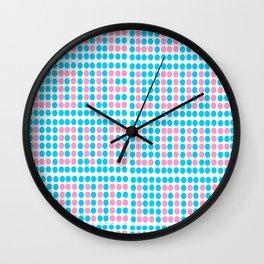 Love polka dot -polka dot, pattern,dot,polka,circle, disc,point,abstract,minimalism Wall Clock
