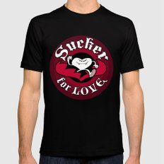 Sucker For Love too Mens Fitted Tee MEDIUM Black