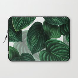 tropical green pattern Laptop Sleeve