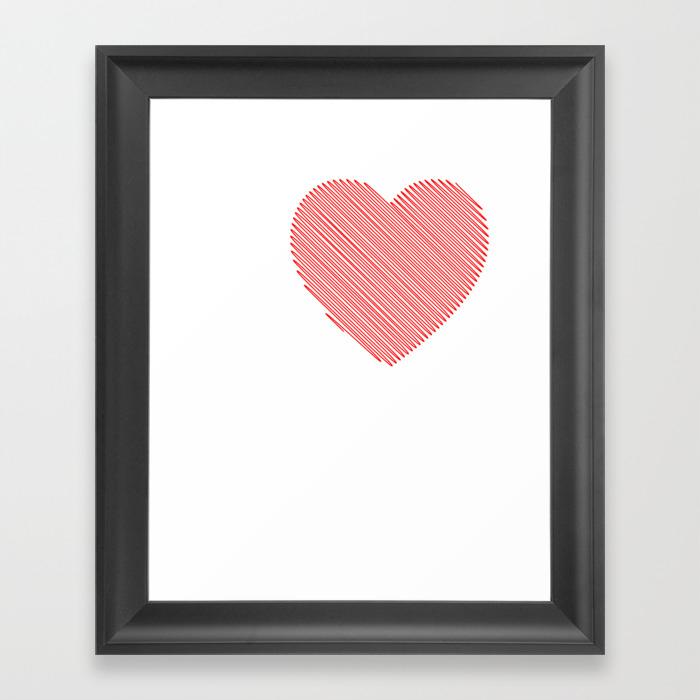 I Love Midget Porn I Heart Midget Porn Funny T Shi… Framed Art Print by Merchtrending FRM8855485