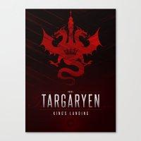 targaryen Canvas Prints featuring House Targaryen Sigil III (house seat) by P3RF3KT
