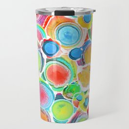 Sunshine on Your Spotty Mind (Alcohol Inks Series 07) Travel Mug