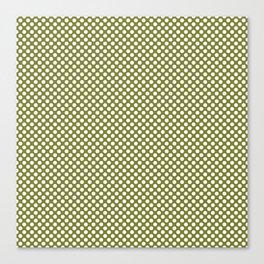 Woodbine and White Polka Dots Canvas Print